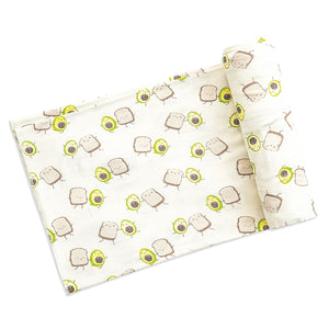 Avocado Toast Bamboo Swaddle Blanket