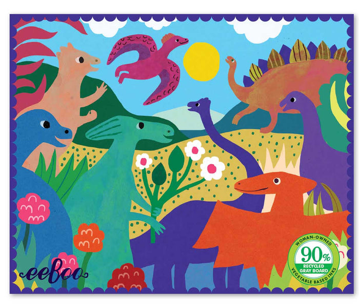 36 Piece Mini Puzzle, Dinosaurs In The Park