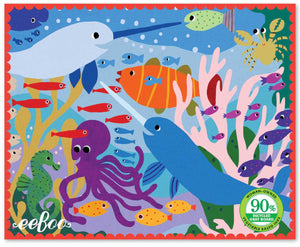 36 Piece Mini Puzzle, Narwhal and Friends