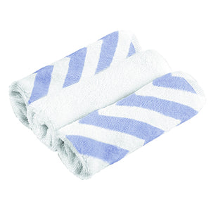 3Pk Washcloths, Blue