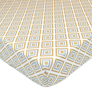 Percale Crib Sheet - Gold/Grey Sparkle