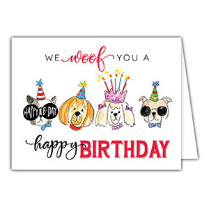 Card - Woof Birthday