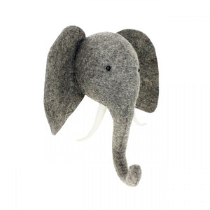 Semi Elephant Head W/Tusks