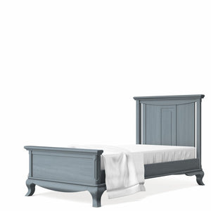 Twin Bed Solid Back Washed Grey