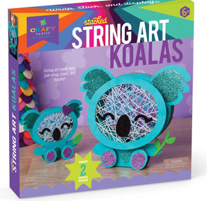 Stacked String Art Koala