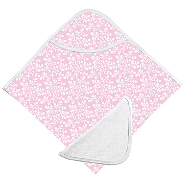 Bath Towel & Washcloth, Pink Berries