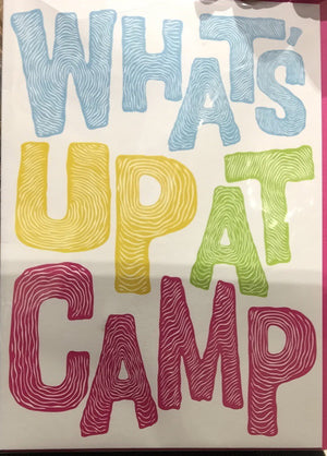 Card - Activity Card, What's Up At Camp, Pink