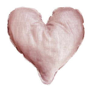 Heart Handmade Pillow, Blush Pink