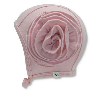 Bamboo pilot hat with flower blush