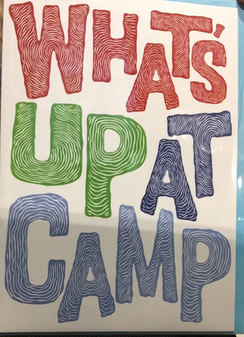 Card - Activity Cards What's Up At Camp - Blue