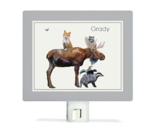 Personalized Nightlight, Moose And Pals - Grady