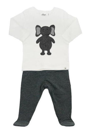 Elephant 2PC Footie Set