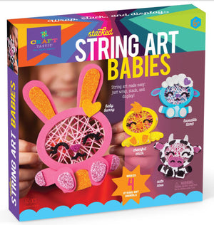 Stacked String Art Animal Babies