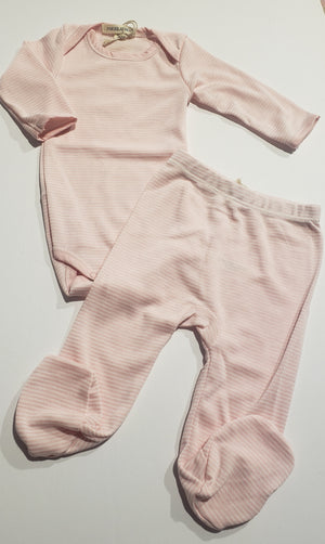 Pink 2PC Footed Set