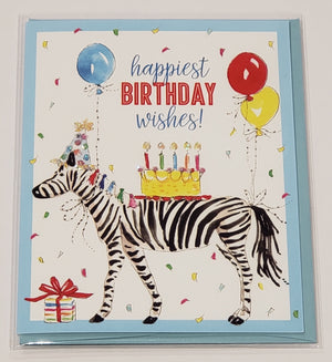 Card - Birthday Zebra