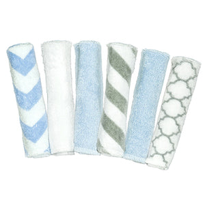 6Pk Washcloths, Blue