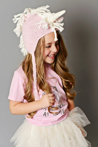 Ella Unicorn Hat - Pink