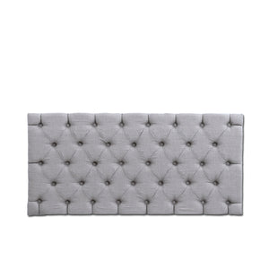 Tufted Panel Grey Linen
