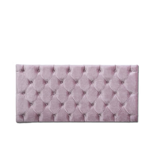 Antonio Tufted Panel, Pink Velvet
