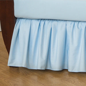 Percale Gathered Crib Skirt 13.5 ""