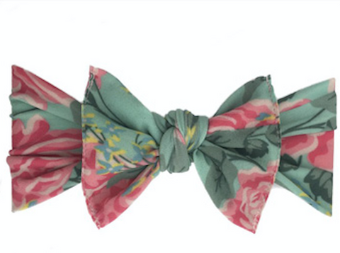 Headband - Printed Knot - Vintage Rose