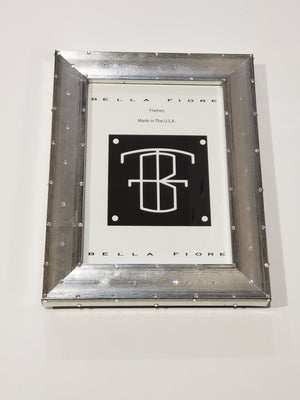 Silver Jewel Studded Picture Frame 5x7