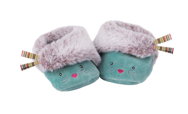 Blue Cat Slippers