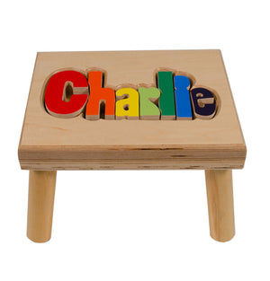 Name Stool - Primary Colors