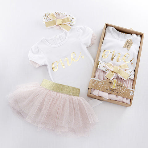 My First Birthday 3PC Tutu Outfit
