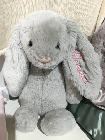 "Sample: Bashful Grey Bunny ""Harper"""