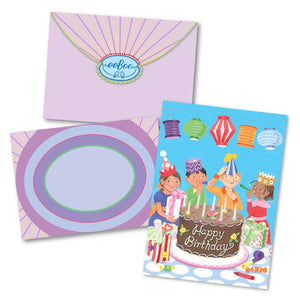 Bday Party Chinese Lanterns Card