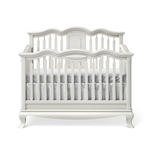 Convertible Crib Open Back Solid White