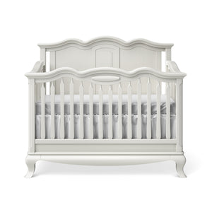 Convertible Crib Solid Back Solid White