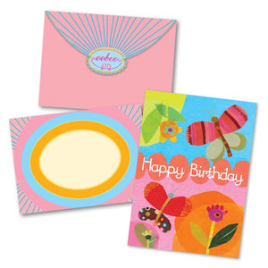 Collage Of Butterfly Bday Card