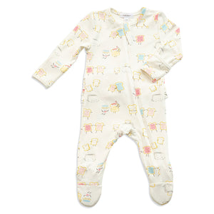 Jelly Toast Ruffle Footie W/Zip