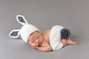 Bailey Bunny Knit Set, Grey