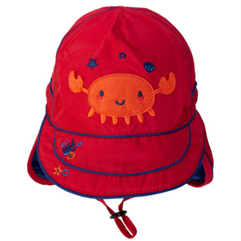 Racy Red UV 50+ Flap Hat