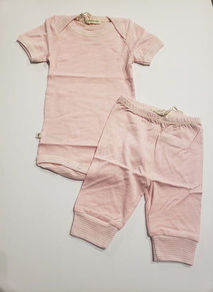 Pink S/S Footless 2PC Set