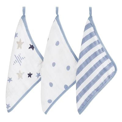 Rock Star 3Pk Washcloth
