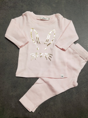 Bunny Face 2PC Set, Pink