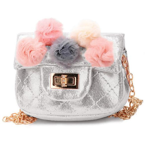 Metallic Pom Pom Mini Bag