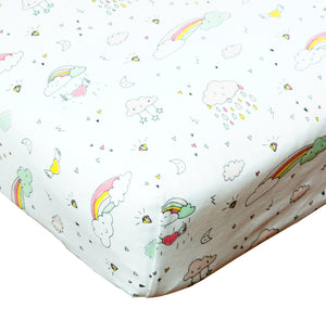 Rainbow Crib Sheet
