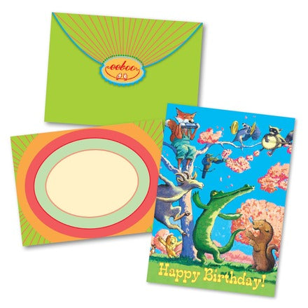 Dancing Animals Bday Card