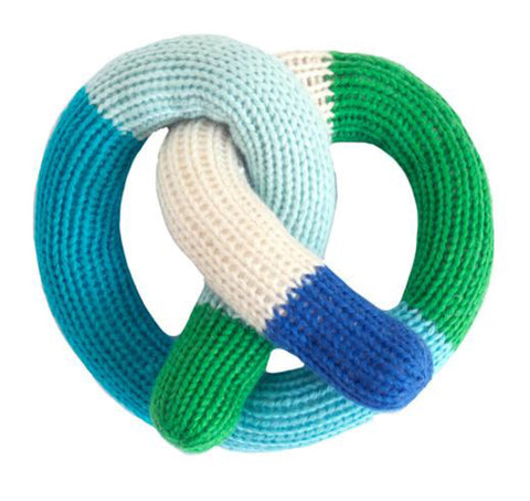 Pretzel Rattle - Blue