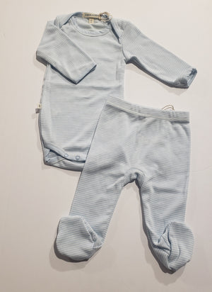 Baby Blue 2PC Footed Set