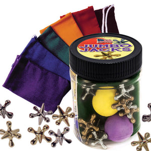 Jumbo Jacks Toy Jar with Pouch