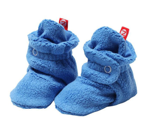 Cozie Fleece Booties, Periwinkle