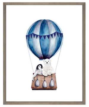 "Hot Air Balloon Animal Ride 10.5""X12.5"""