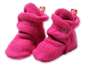 Cozie Fleece Booties, Fuchsia
