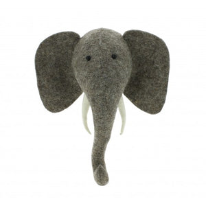 Elephant Head W/ Tusks, Mini